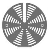 Комплект для уменьшения скорости потока вентилятора Smeg 3922