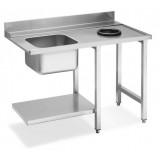 Стол с мойкой для посудомоечных машин купольного типа Smeg WT51200SHR
